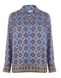 Warehouse tile print pyjama blouse