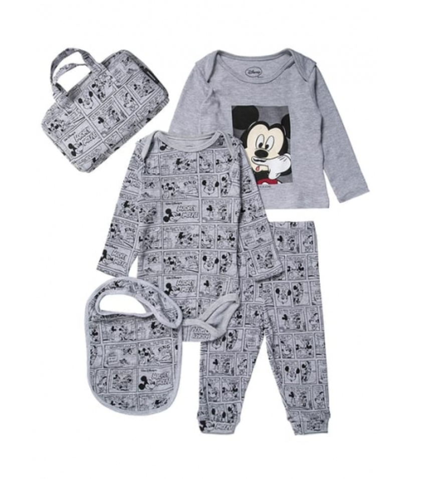 Little Eleven Paris: Mickey Moustache 4 Piece Set (Other designs available) £48