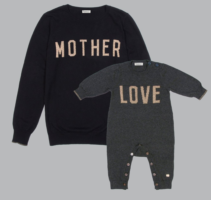 MOTHER LOVE Charity Cashmere Gift Set Black_Charcoal- Selfish Mother X The Bonniemob - £160 (£30 goes to the chairty) (also sold separately)