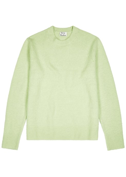 Harvey Nichols Manchester Acne Studios Peele green wool blend jumper £370 Available in store and online