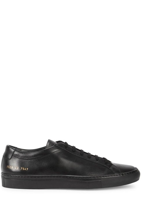 Harvey Nichols Manchester Common Projects Original Achilles black leather trainers £315 Available in store and online