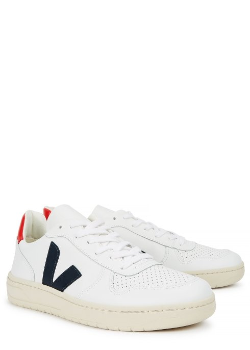 Harvey Nichols Manchester Veja V 10 white leather trainers £115 Available in store and online