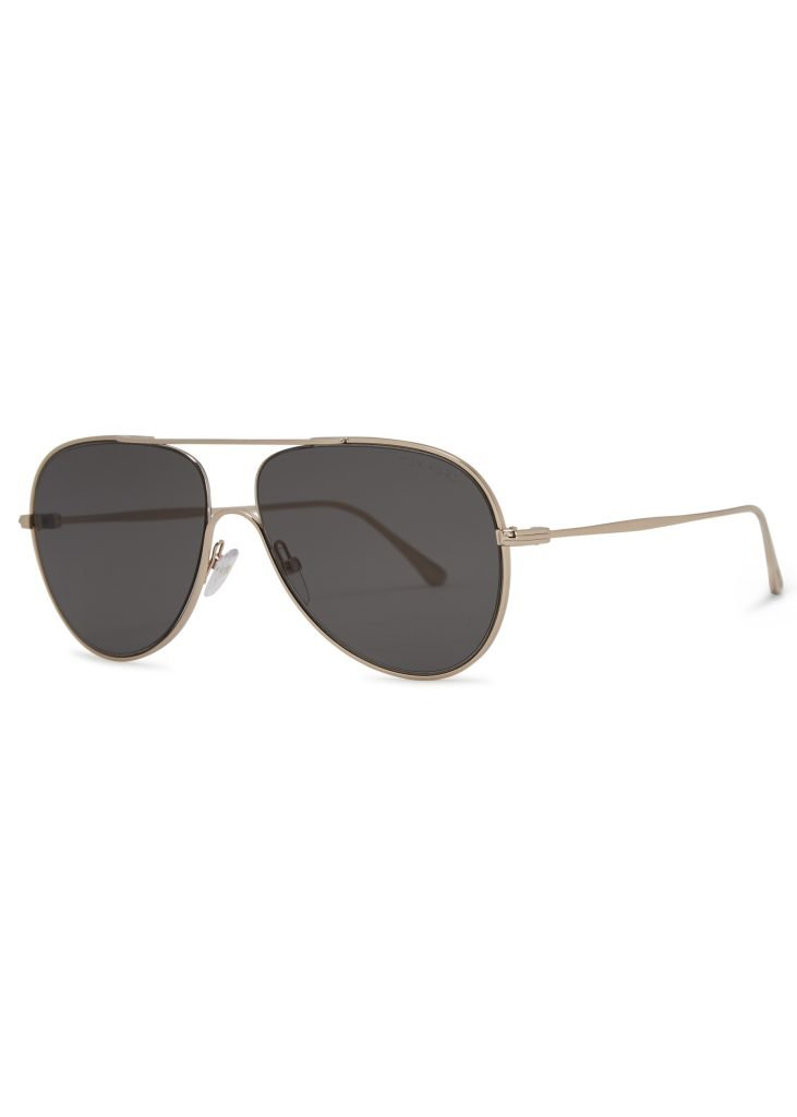 Harvey Nichols Manchestser Tom Ford Eyewear Silver tone aviator style sunglasses £255 Available in store and online