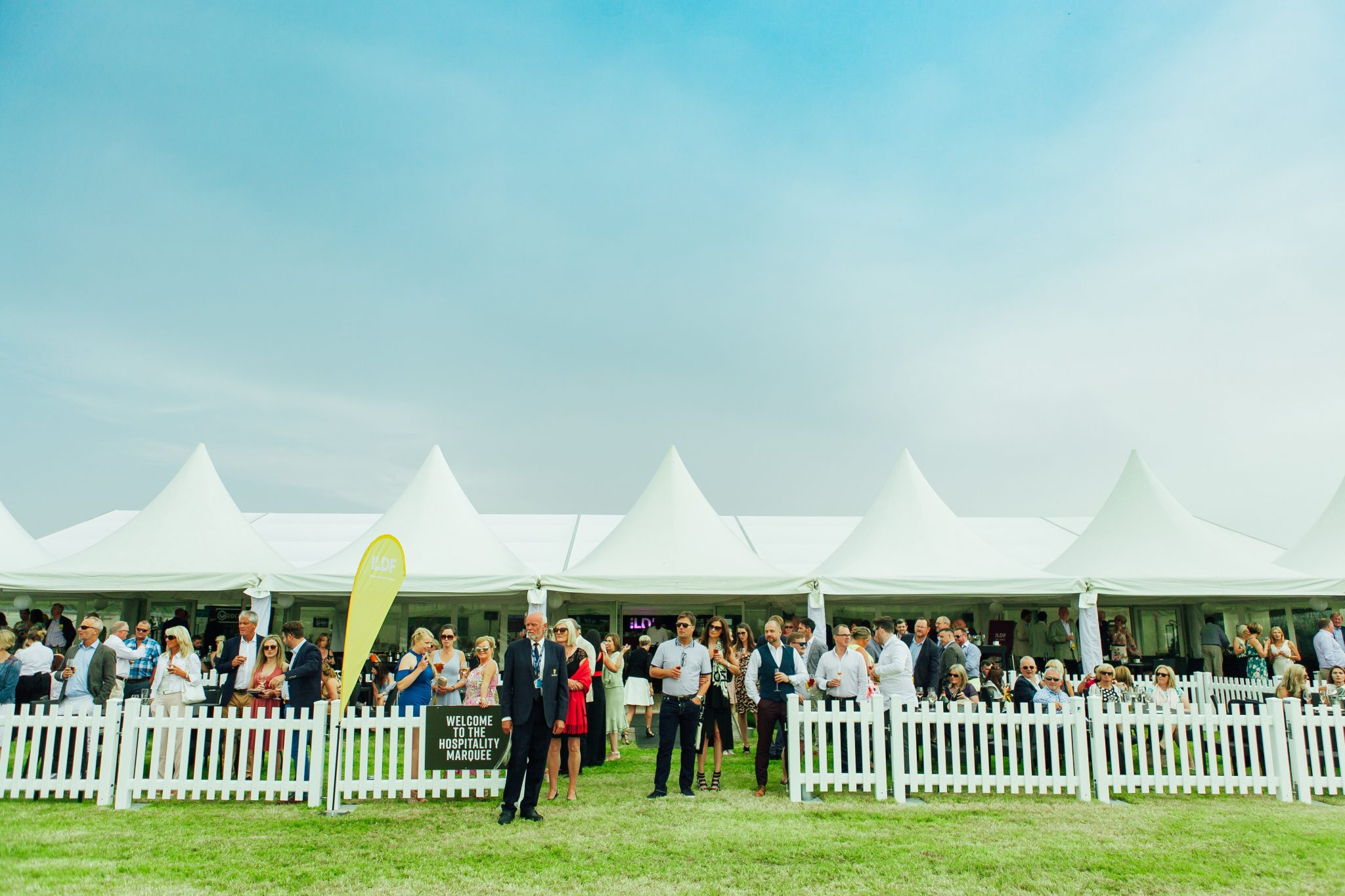 The Chester Polo Club Hospitality Marquee offers guests the VIP treatment fit for royalty.