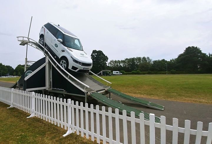 Those brave enough can test their driving skills with the Land Rover