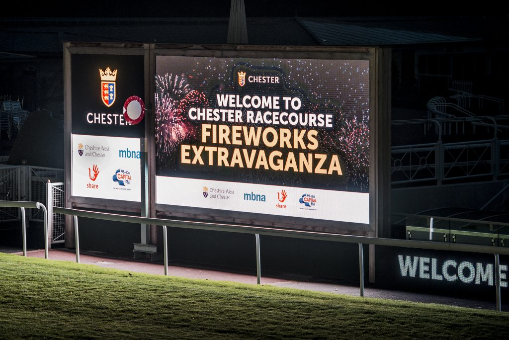 The Fireworks at Chester Racecourse