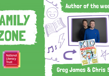 Super authors Greg James and Chris Smith team up with National Literacy Trust to launch first in new series of weekly author exclusives