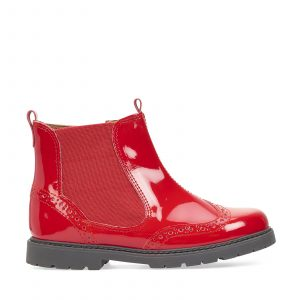 CHELSEA Red Patent Girls Zip up Ankle Boots 44.99 47.99